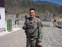 Pete during deployment
